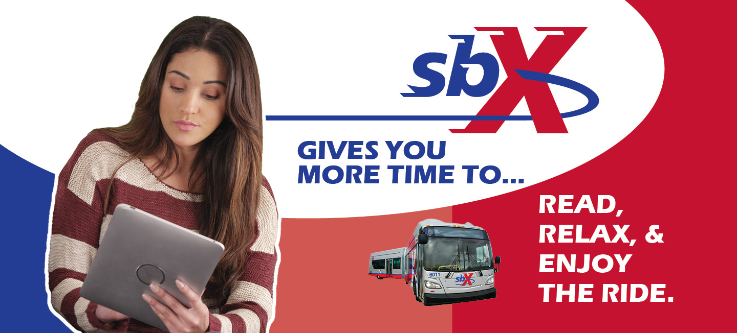 SbX Gives you more time to... Read, relax, and enjoy the ride header image