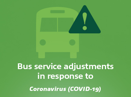 Corona virus bus service adjustment image