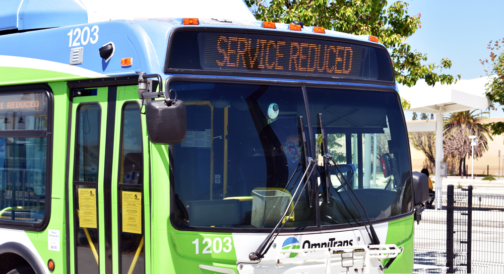 Bus operating reduced service image