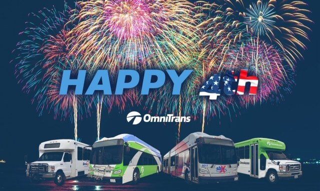 Omnitrans Buses Not in Service July 4, 2020