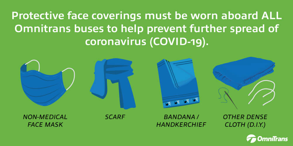 Coronavirus: Face Coverings Required to Ride Omnitrans Buses