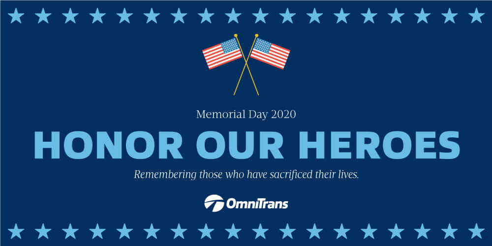 Memorial Day 2020: Buses not in service
