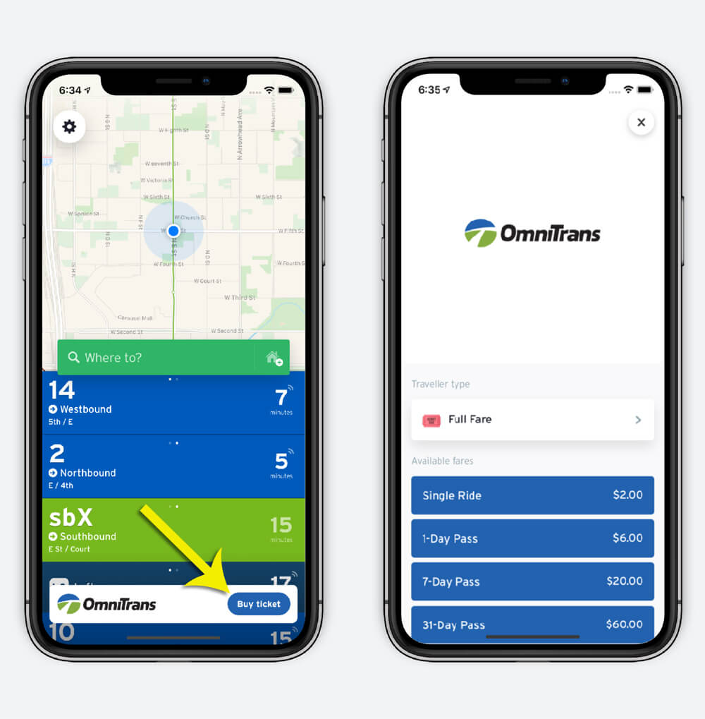 Omnitrans mobile fare now available on the Transit app!