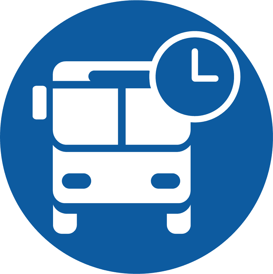 time of bus icon