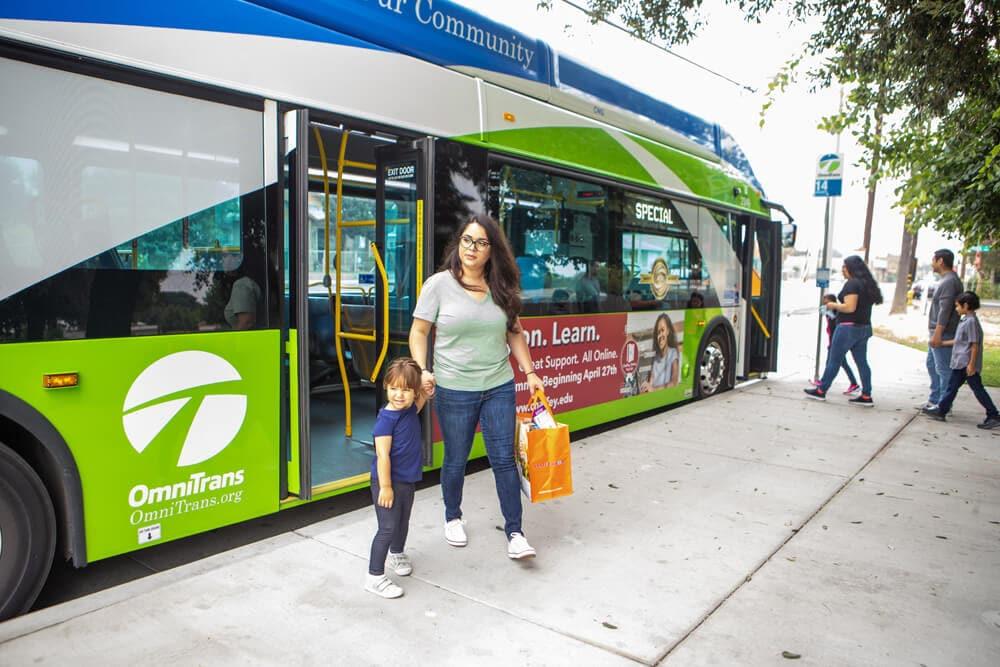 bus stop riders