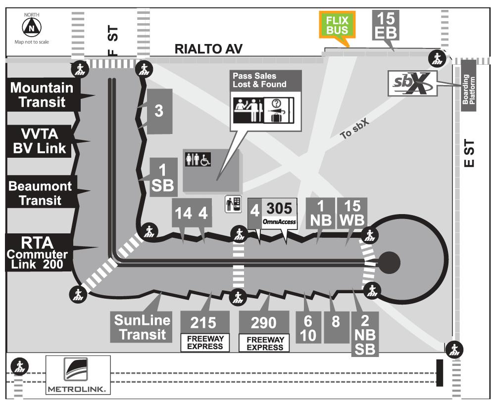 SBTC Flix Bus map