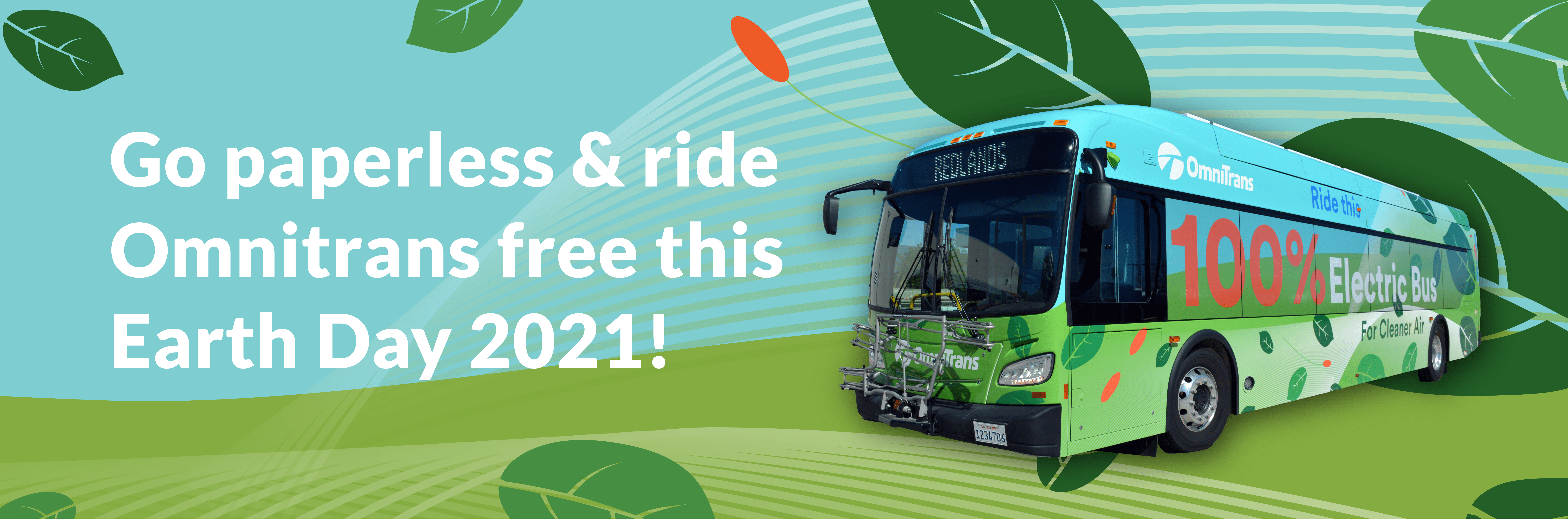 Ride Omnitrans Free with Mobile Fares to Celebrate Earth Day 2021!