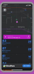 Transit app screenshot image