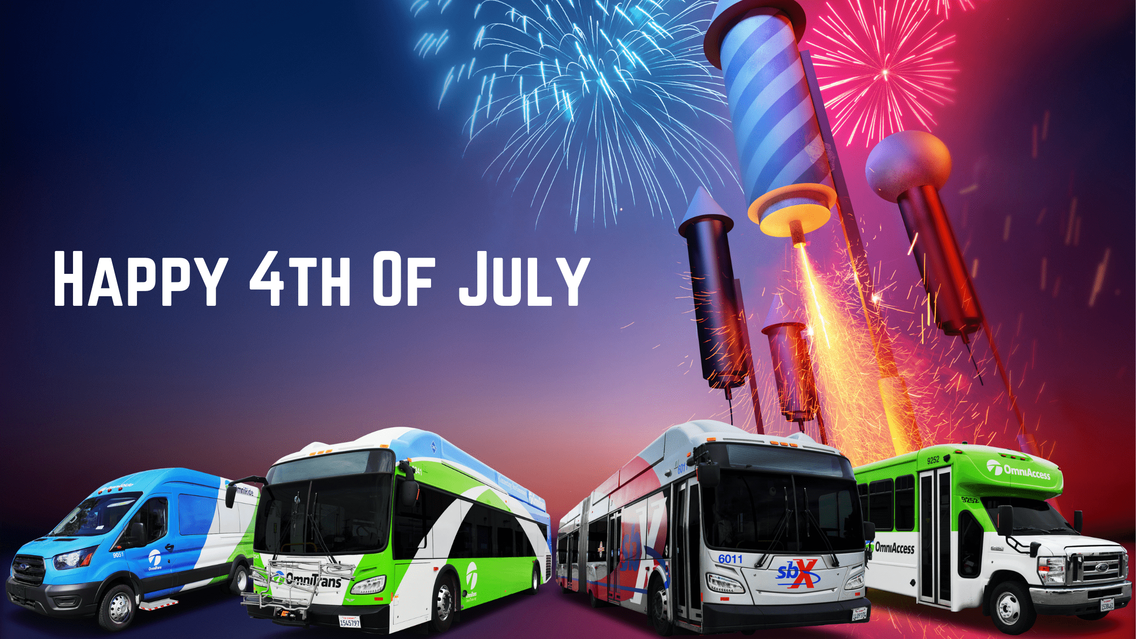 No Bus Service on July 4, 2021